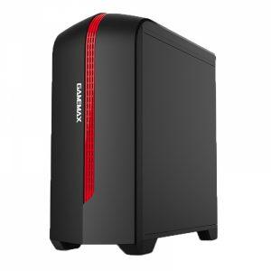 GAB GAMEMAX H601 BR (BLACK/ RED) 1* FAN RED M-ATX