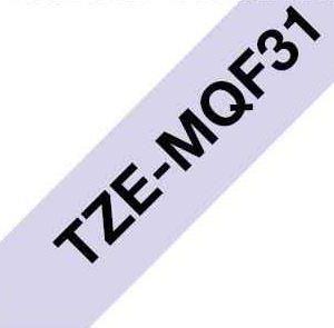 Cinta Rotuladora Brother Tze-Mqf31 - NegroLila Pastel 12Mm
