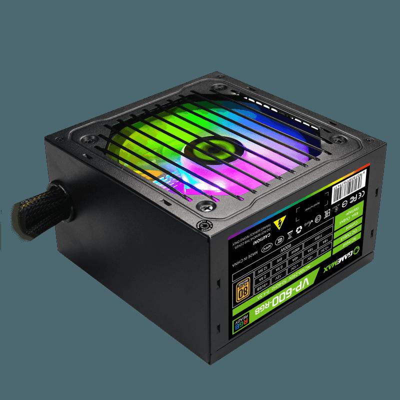FUENTE 600W GAMEMAX VP-600-RGB 80 PLUS BRONZE