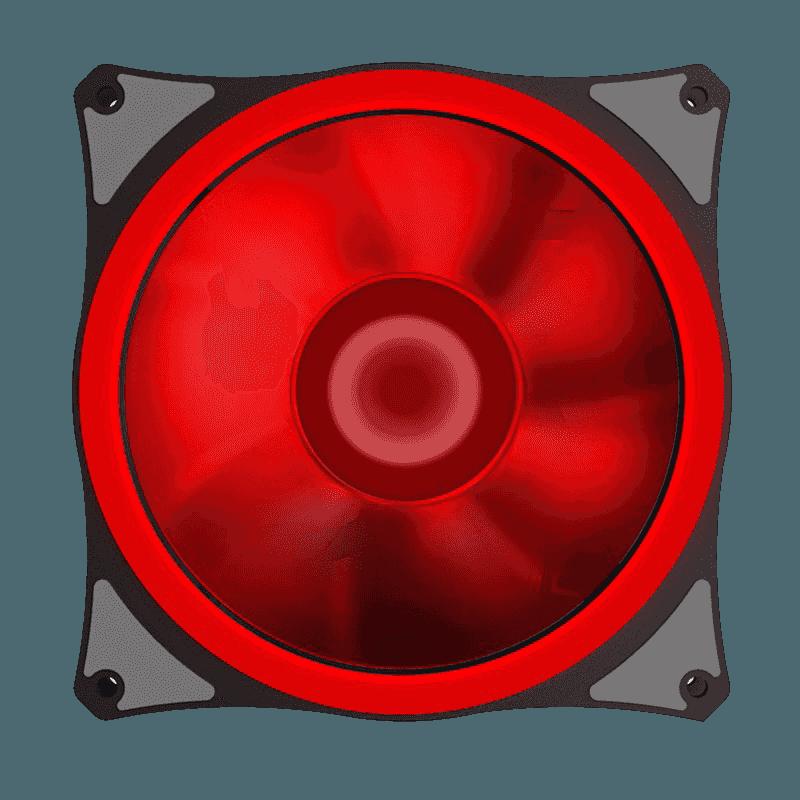FAN GAMEMAX P/ GABINETE 120MM LEDS ROJO