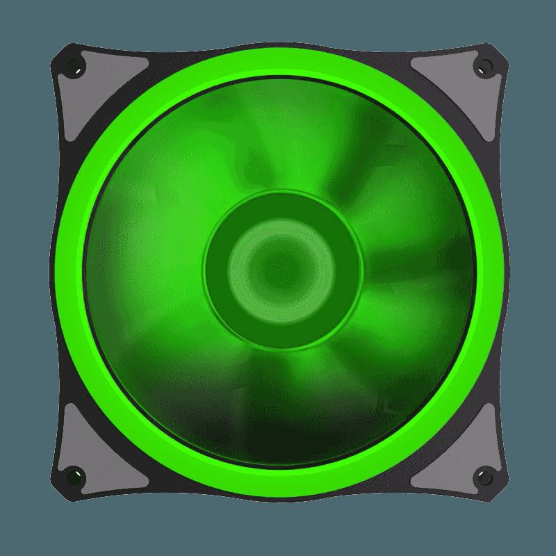 FAN GAMEMAX P/ GABINETE 120MM LEDS VERDE