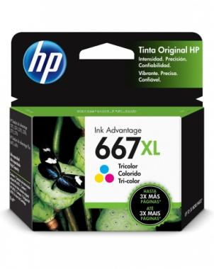 Cartucho de tinta 667XL Tricolor