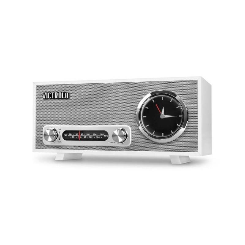 Radio Reloj Analog Victrola Broadway Bluetooth Vc-150-Wht