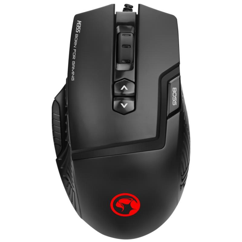 MOUSE GAMING MARVO M355 6400 DPI OPTICO LED RGB