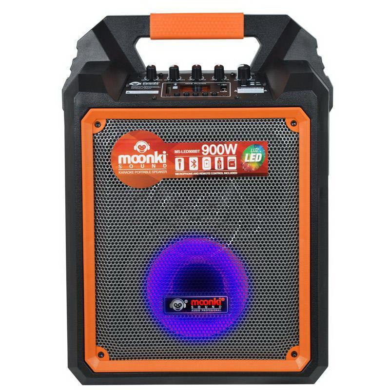 PARLANTE PORTÁTIL BT MOONKI SOUND MS-LED900BT