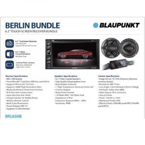 """COMBO STEREO DOBLE DIN BLAUPUNK BERLIN 622 + PAR DE PARLANTES 6.5"""""""
