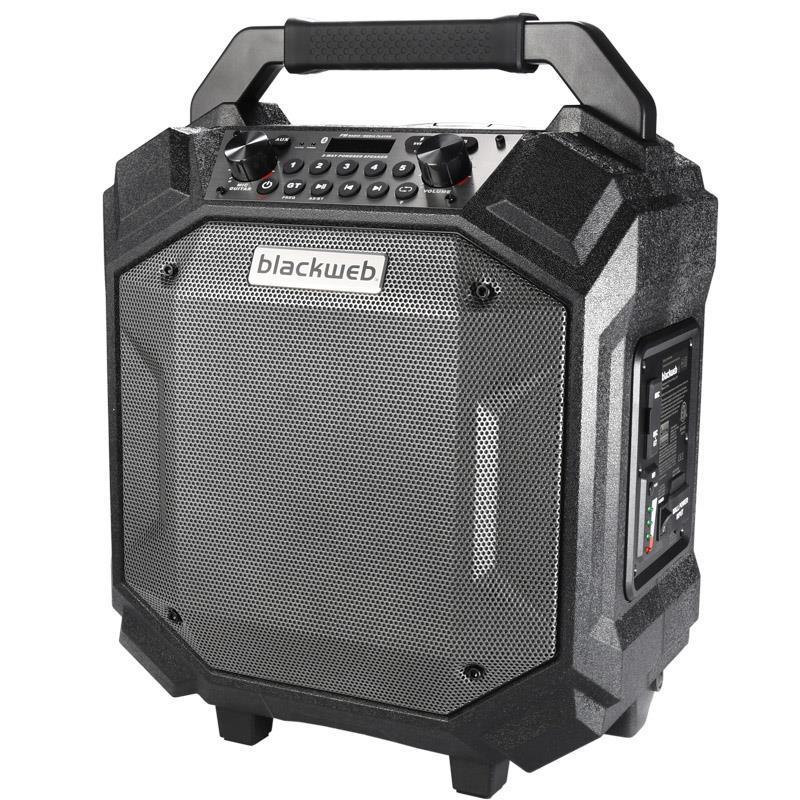 PARLANTE POTENCIADO BLACKWEB PERFORMER PORTABLE BLUETOOTH USB/AM-FM/AUX/