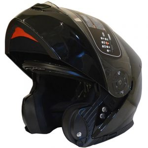 CASCO FLIP UP YOHE FF950 (S) BLACK GLOSS