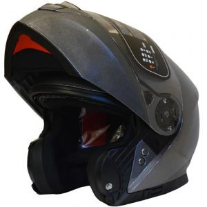 CASCO FLIP UP YOHE FF950 (L) GREY GLOSS