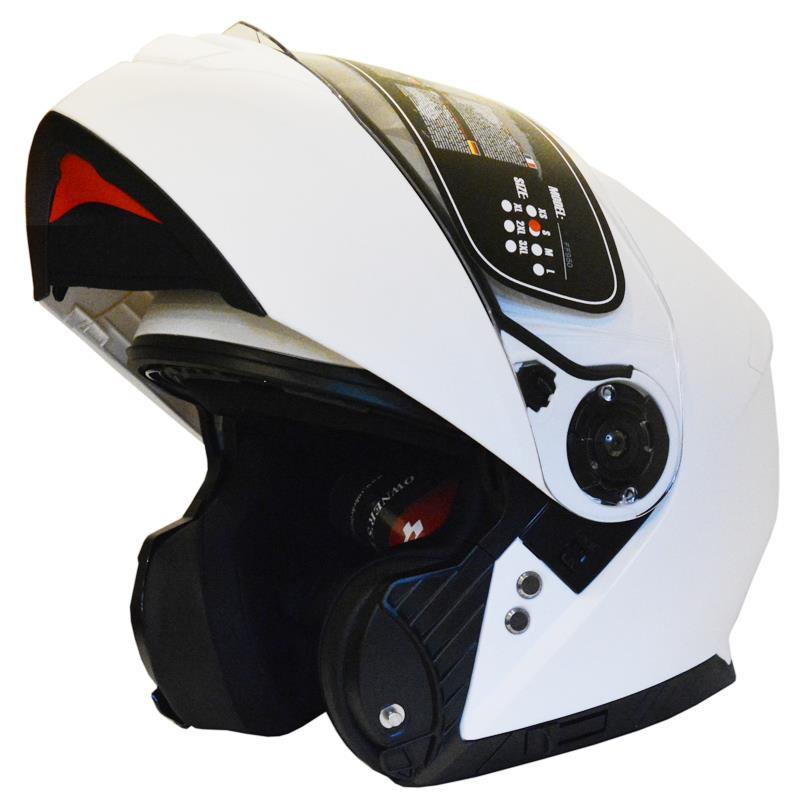 CASCO FLIP UP YOHE FF950 (M) WHITE MATE