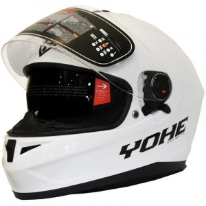 "CASCO INTEGRAL YOHE FF966A (S) WHITE ""GLOSS"""