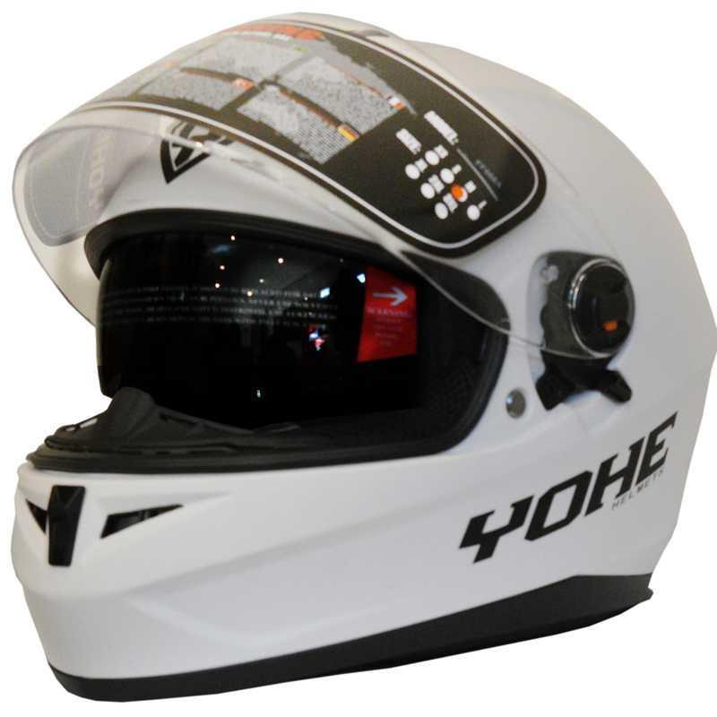 "CASCO INTEGRAL YOHE FF966A (L) WHITE ""MATE"""