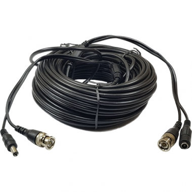 Cable Armado CCTV 720p 18mts Video+Alim.