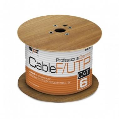 Cable F/UTP certificado 4 pares Cat 6 Negro Exteri
