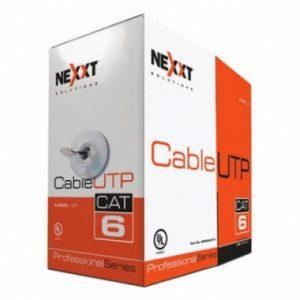Cable UTP certificado 4 pares Cat 6 Azul