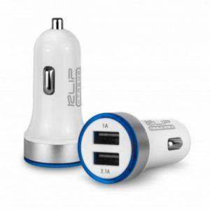 Cargador USB doble para automóvil con luz LED 3.1A