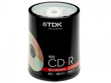 CD-R 52X 80MIN 700MB. Torre de 100 unidades.