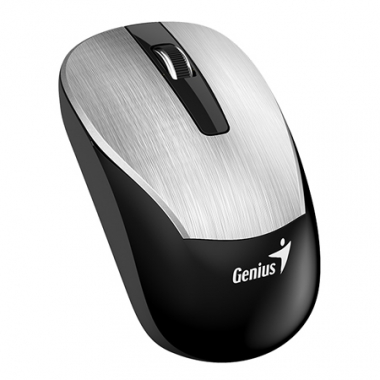 Mouse Eco-8015 Inalámbrico y recargable. Gris meta