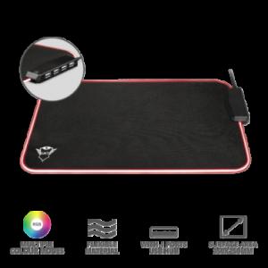 Mouse Pad GXT765 Glide-Flex RGB y 4 puertos USB La