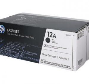 Cartucho de tóner 12A Negro LaserJet Pack Doble