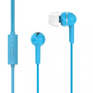 Auriculares HS-M300 con micrófono. Celeste