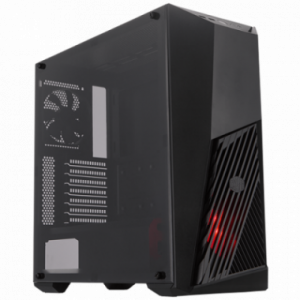Gabinete MasterBox K501L LED Rojo