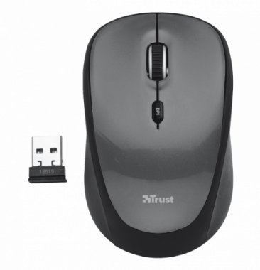Mouse Inalámbrico Yvi Negro