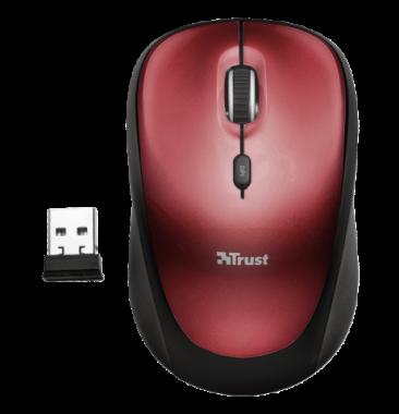 Mouse Inalámbrico Yvi Rojo