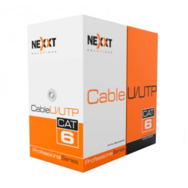 Nexxt Giga Cat 6 Cable 4P 23AWG U/UTP CMR Azul 305